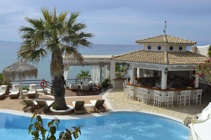 A look to the new #pool area at Delfino Blu Boutique Hotel! #DelfinoBlu #Corfu