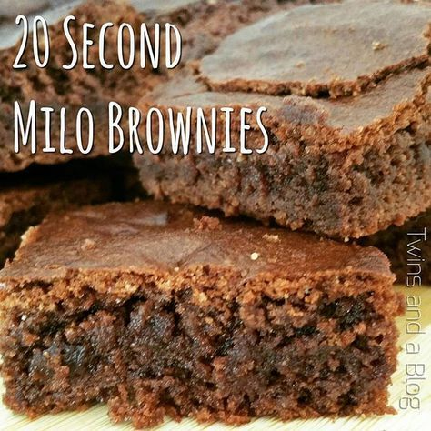 I've always got time to make 20 Second Brownies!!! Super quick, easy and yummy!! *Thermomix and Non Thermomix methods* http://twinsandablog.com.au/20-second-milo-brownies/ #twinsandablog #milobrownies #20seconds #thermomix #thermomixaus #tm5