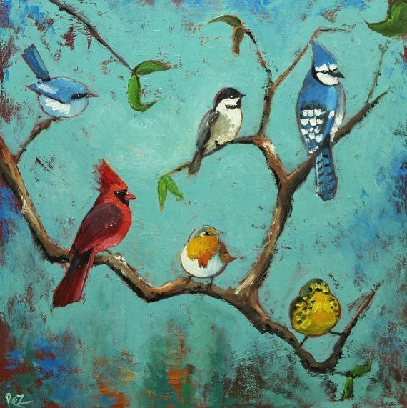142 best Birds paintings images on Pinterest