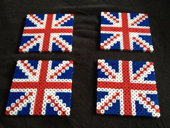 British Coasters Set of 4 on Etsy, $10.00