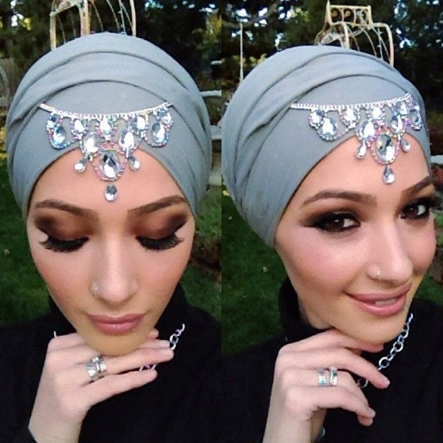 BabyLailaLove Hot Hijab Jewelry. LOVE The scarf with the headpiece!!