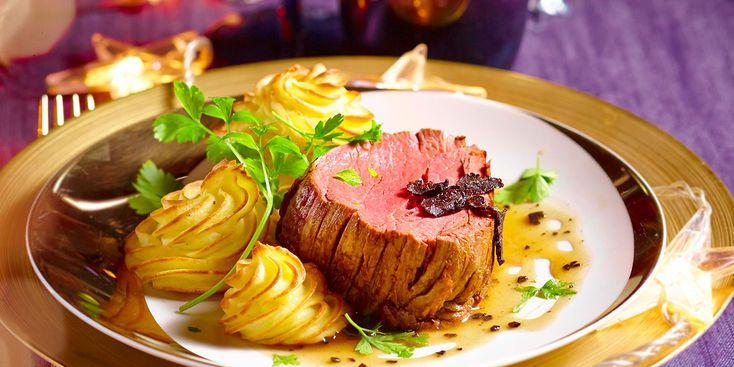 Filet de bœuf, sauce aux truffes