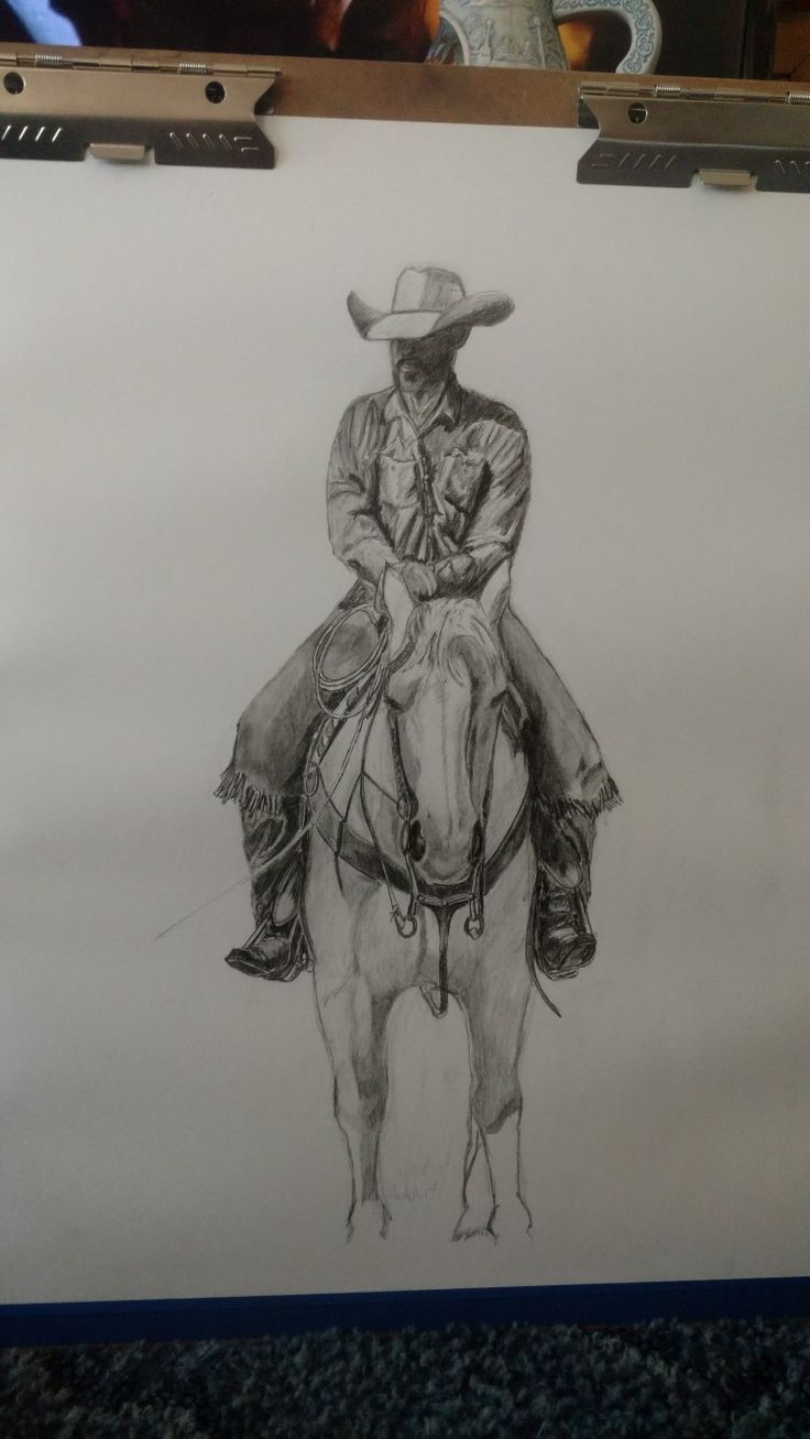 Drawing of me and a horse I call Doc