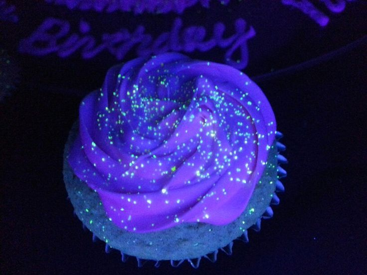 Glow in the dark cupcakes.