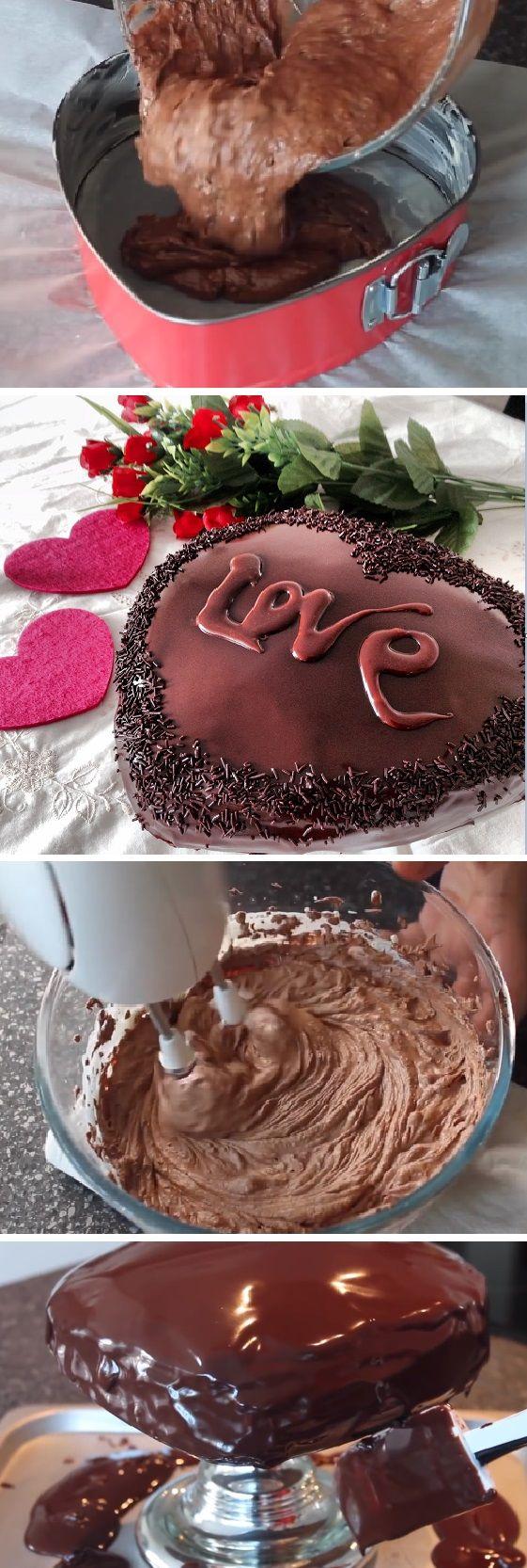 Tarta de chocolate y trufa Corazón de San Valentín, ¨Recetas románticas¨ #sanvalentin #valentinesday #valentine #love #azúcar #tips #cupcakes #cakes #dulces #receta #recipe #casero #torta #tartas #pastel #nestlecocina #bizcocho #bizcochuelo #tasty #cocina #chocolate #pan #panes Si te gusta dinos HOLA y dale a Me Gusta MIREN …