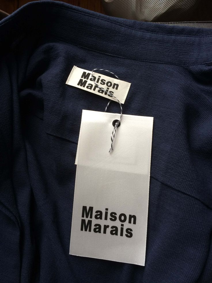 Maison Marais Label and Hang Tag