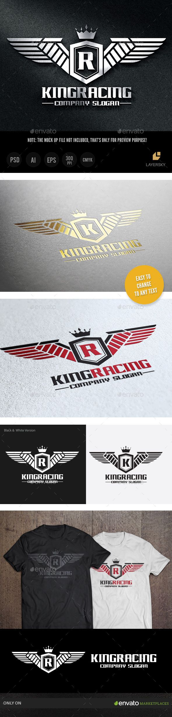 King Racing — Photoshop PSD #garage #club • Available here → https://graphicriver.net/item/king-racing/8825065?ref=pxcr