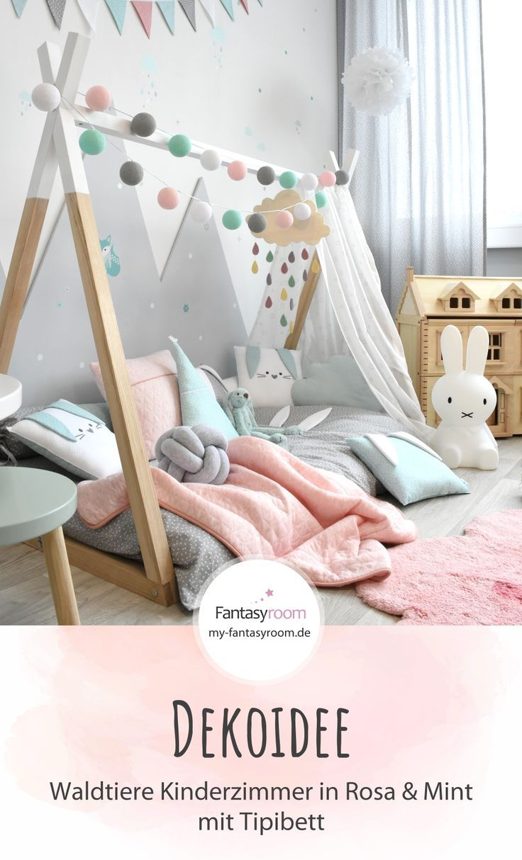 Waldtiere Zimmer in Puderrosa & Mint bei Fantasyroom online kaufen