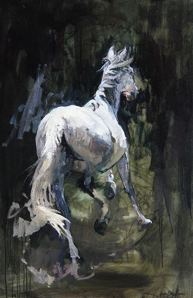 Andalusian Mare, Oli Painting by Lynne-Marie Eatwell. South Africa Artist based in Cape Town.