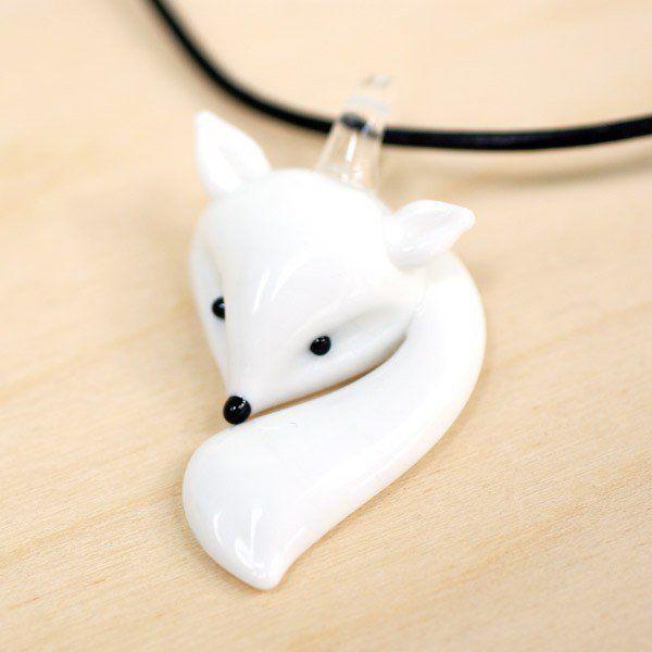 Glass Fox Necklace