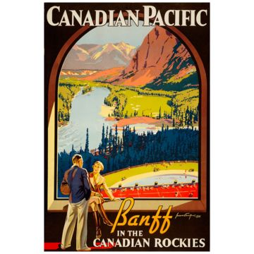 Love these reproduced vintage travel prints!: Vintage Posters, Travelposters, Canadian Rocky, Canada, Canadian Rockies, Canadian Pacific, Vintageposters, Banff, Vintage Travel Posters