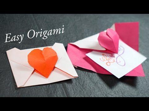 Easy Origami Heart Envelope Tutorial (Henry Phạm) - YouTube