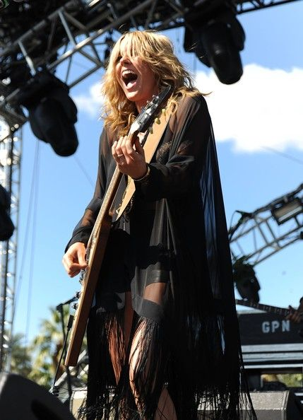 Worn by Grace Potter and the Nocturnals at Coachella, and quite the fabulous robe it is.