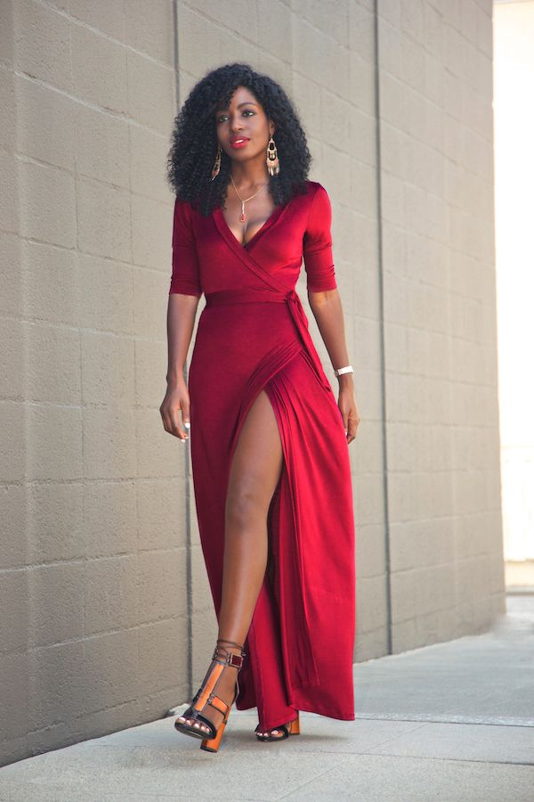 style red dress girl