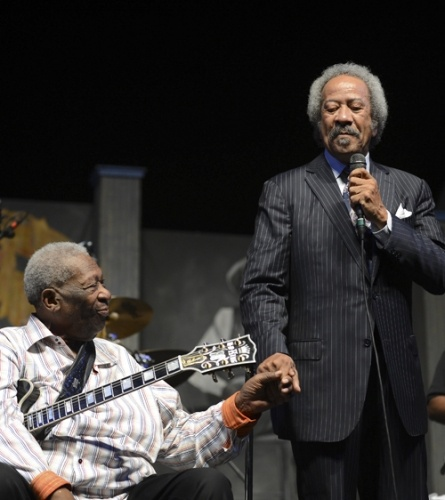 B.B. King and Allen Toussaint B.B. King and Allen Toussaint perform during the 2013 New Orleans Jazz  Heritage Music Festival at Fair Grounds Race Course on April 28th, 2013.