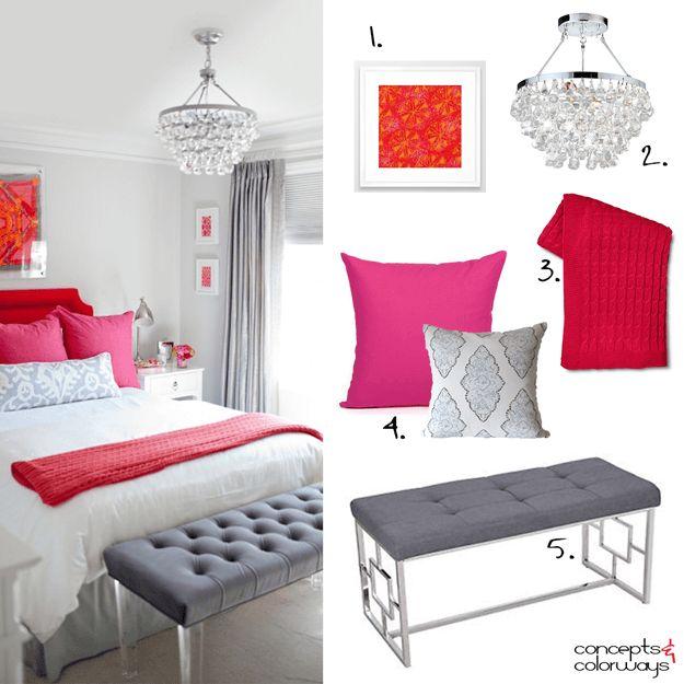 Hot Pink Bedroom Accessories Bedroom Ideas Pinterest Bedroom Decor Ideas Uk Lilac Bedroom Accessories: 17 Best Images About Pantone 'Pink Yarrow' On Pinterest