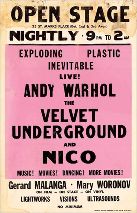 Velvet Underground, Nico and Andy Warhol    www.junkfoodclothing.com