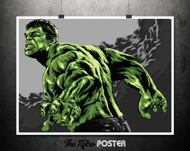 The Incredible Hulk - Boys Room Prints, Boys Bedroom, Boys Prints, Hulk Poster, Hulk Prints, Marvel Poster, Avengers, Man Cave Decor by TheRetroPoster on Etsy