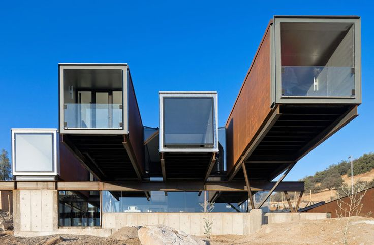 House made of shipping containers in Chile