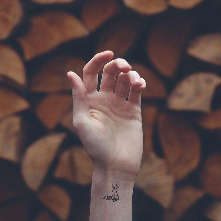 #tattoo #fox #ink #black #wrist