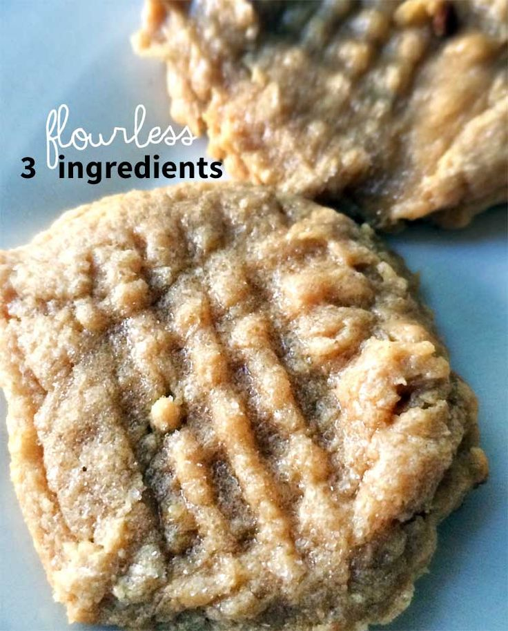 These flourless peanut butter cookies are only 3 ingredients, super quick to make, and taste absolutely fabulous! Great for the gluten-free diet!