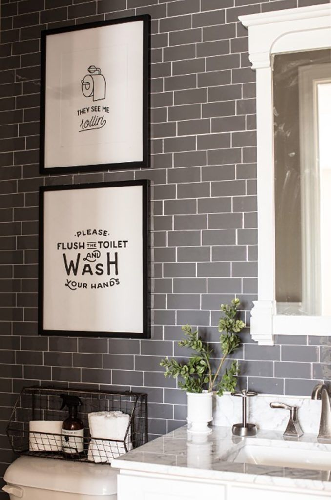 8 Small Bathroom Decorating Ideas You Have To Try Simple Bathroom Decor Stick On Tiles Bathroom Decor