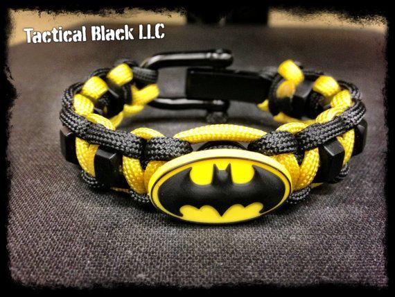 Batman paracord bracelet with hexnuts