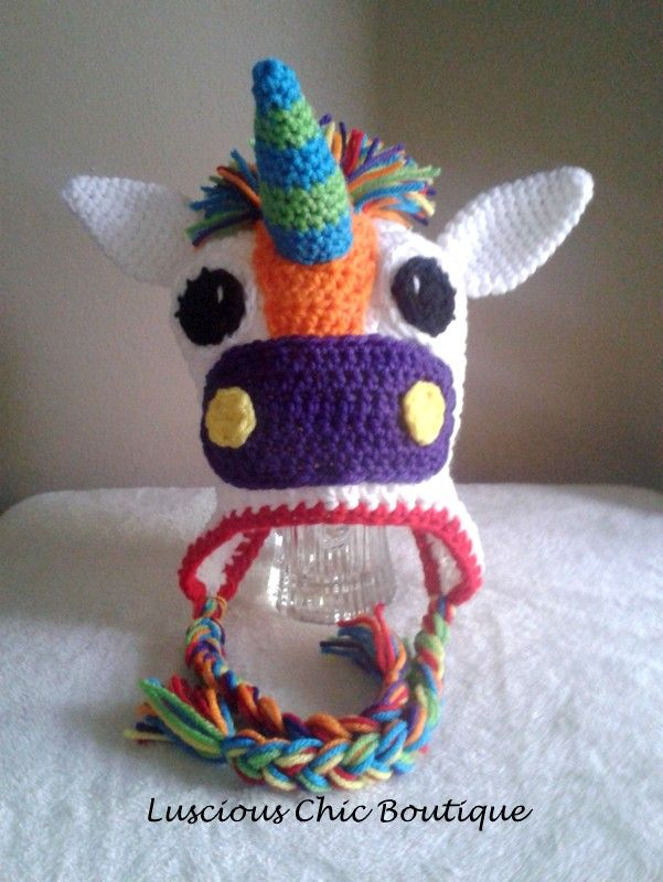 Crochet Pattern For A Unicorn Hat : Crochet Unicorn Hat crochet patterns Pinterest