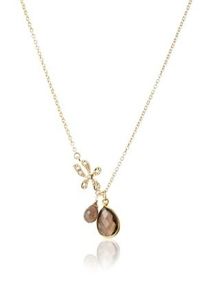 Diane Yang Designs Asymmetrical Smoky Quartz Necklace