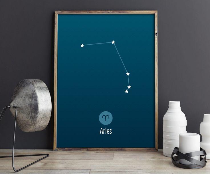 Aries Constellation Art Print