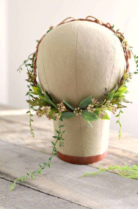 Goddess leaf crown Woodland headpiece Forest by gardensofwhimsy