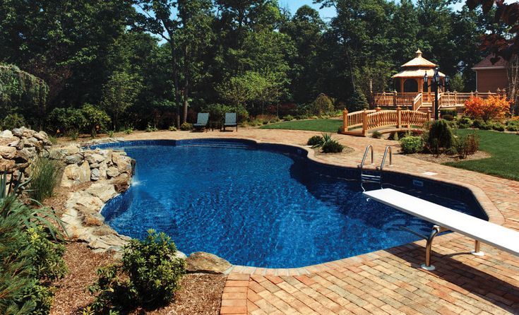 I think this is a liner if it is this is a great option when we replace ours. Love the pool color!