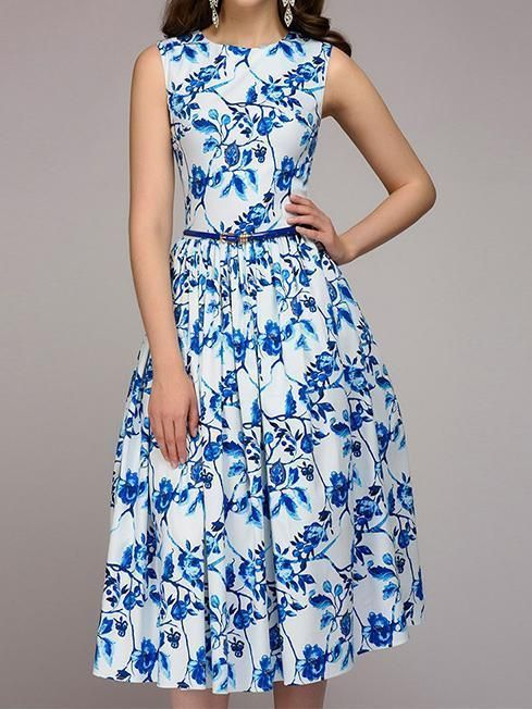 e22dc0a44f Pattern  print flower Style  Basic Skirt type  knee Length Fabric  Polyester