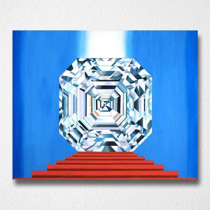 Portal of Eternity (Canvas print) by Reena Ahluwalia. Asscher Cut Diamond. Starts from $345.00. #FancyColorDiamonds #DiamondPaintings #DiamondArt #ReenaAhluwalia #Diamonds #AsscherCutDiamond #AsscherCut #RoyalAsscherCut #asscher #ElizabethTaylor #KruppDiamond