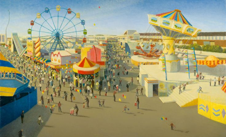 Robert Brownhall: Exhibitions.  (Love these colours, and the misty overlay.  The Ekka - Brisbane). 3/17
