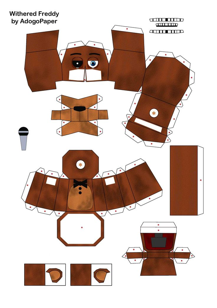 FNAF 2 old freddy papercraft pt1 by Adogopaper.deviantart.com on @DeviantArt
