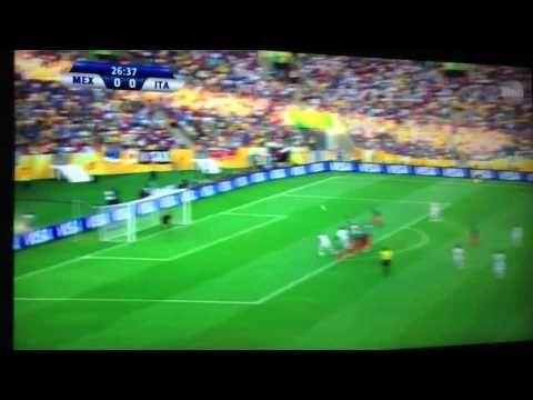 Andrea Pirlo free kick Mexico