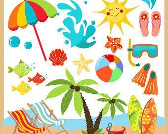 Summer Clipart Summer Clip Art Beach Clipart Beach Clip