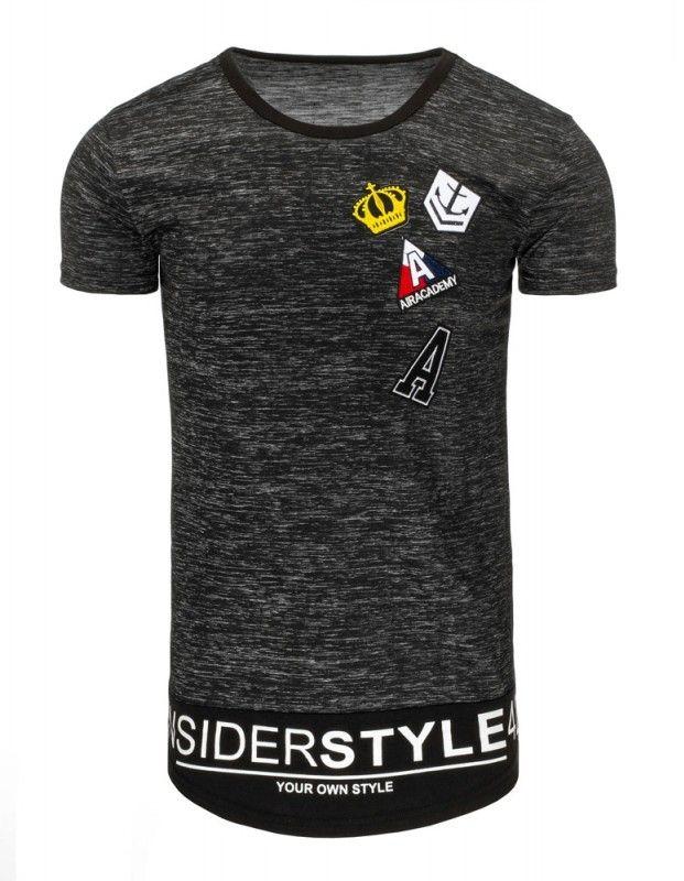 Pánské tričko - King, šedé