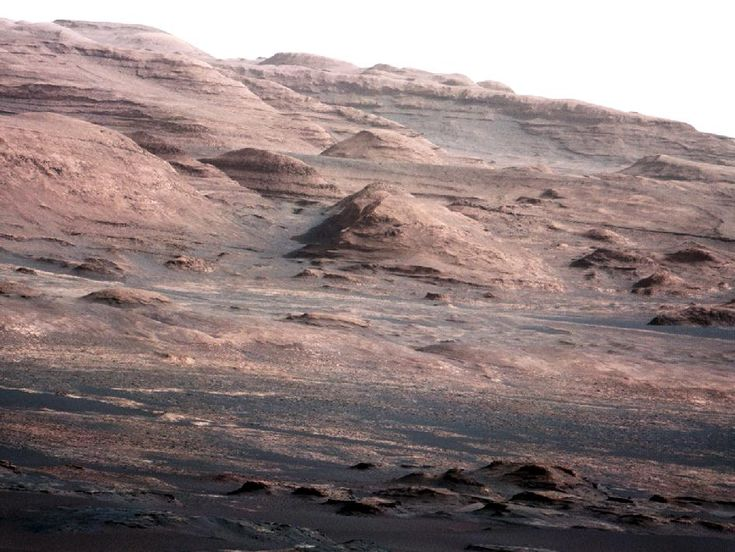 NASA - Layers at the Base of Mount Sharp: Mars Rovers, Planets, Curio Rovers, Curiosities Rovers, Rovers Curio, Mount Sharp, Nasa Curio, Mars Curio, Photo
