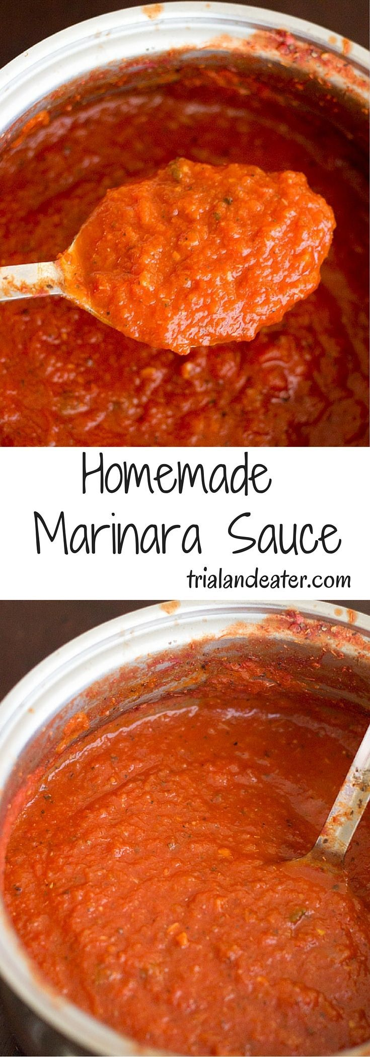 Homemade marinara sauce. So easy, delicious and customizable! Use on pizza, pastas, etc.