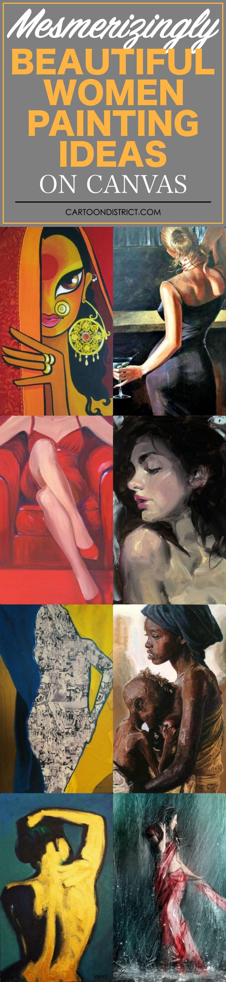 30 Fascinating Beautiful Women Paint Ideas On Canvas Body Art