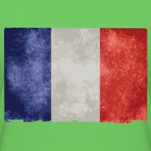 t shirt vert p femme drapeau français bleu blanc rouge - Tee shirt Femme, American Apparel