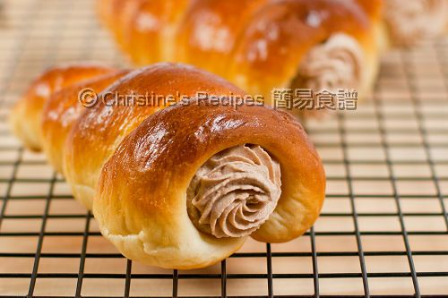 Nutella Cream Horns (Tangzhong Method) from Christine's Recipes