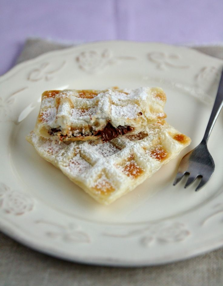 waffles alla Nocciolata