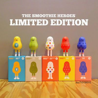 #onTOYSREVIL: Smoothie Heroes from #StickyMonsterLab x #SmoothieKing #YUMMY