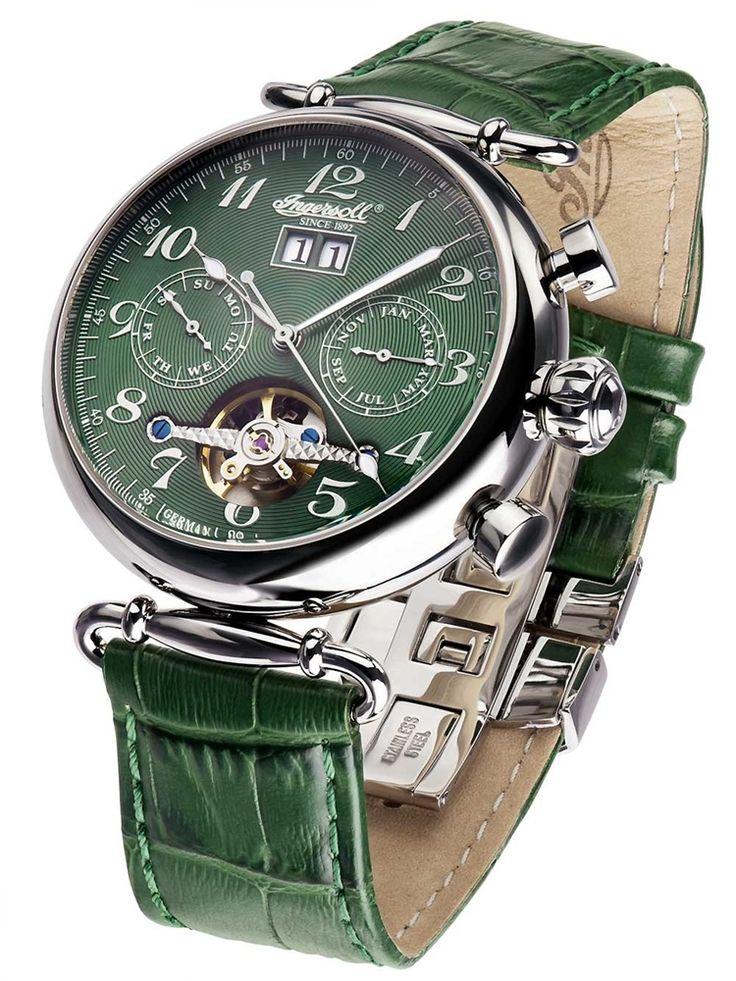 Ingersoll 腕時計 メンズ IN1319GR Waldorf II Automatik watch 44mm 5ATM