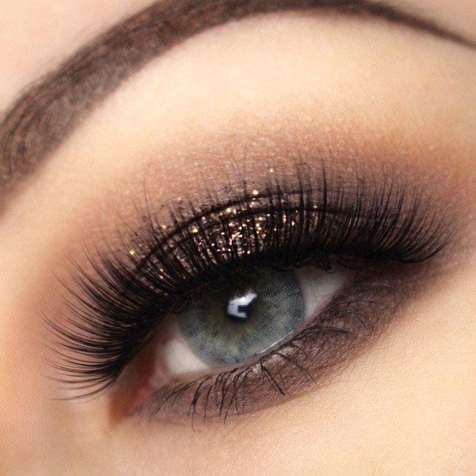 Shimmer Dark Brown Eyeshadow For Gray Eyes Shimmershadow