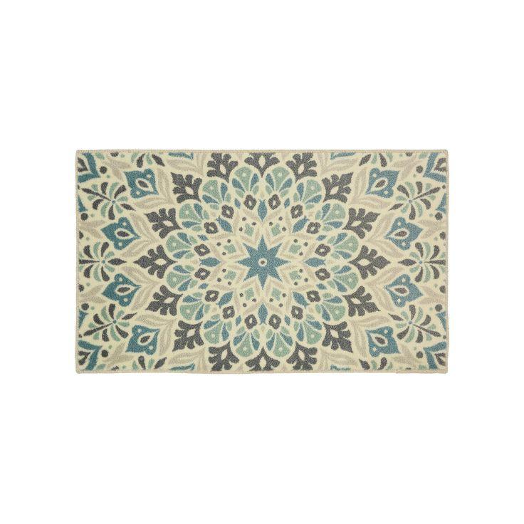 SONOMA Goods for Life™ Ultimate Performance Medallion Tile Border Rug - 20'' x 34'', Blue (Navy)