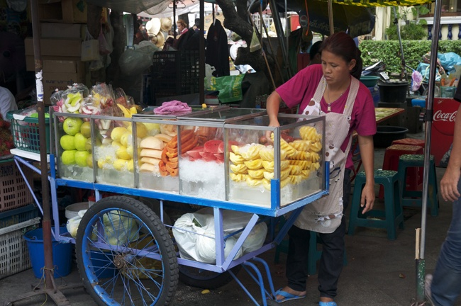 Fresh fruit at a street stall, Bangkok.
